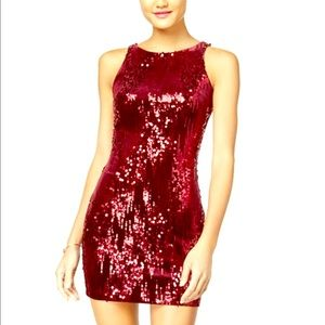 Dresses & Skirts - Wine color sequin dress.